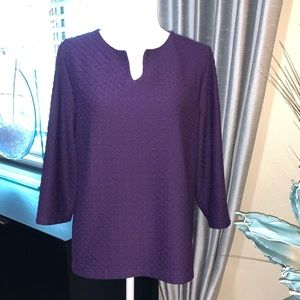 Chico's purple long sleeve top
